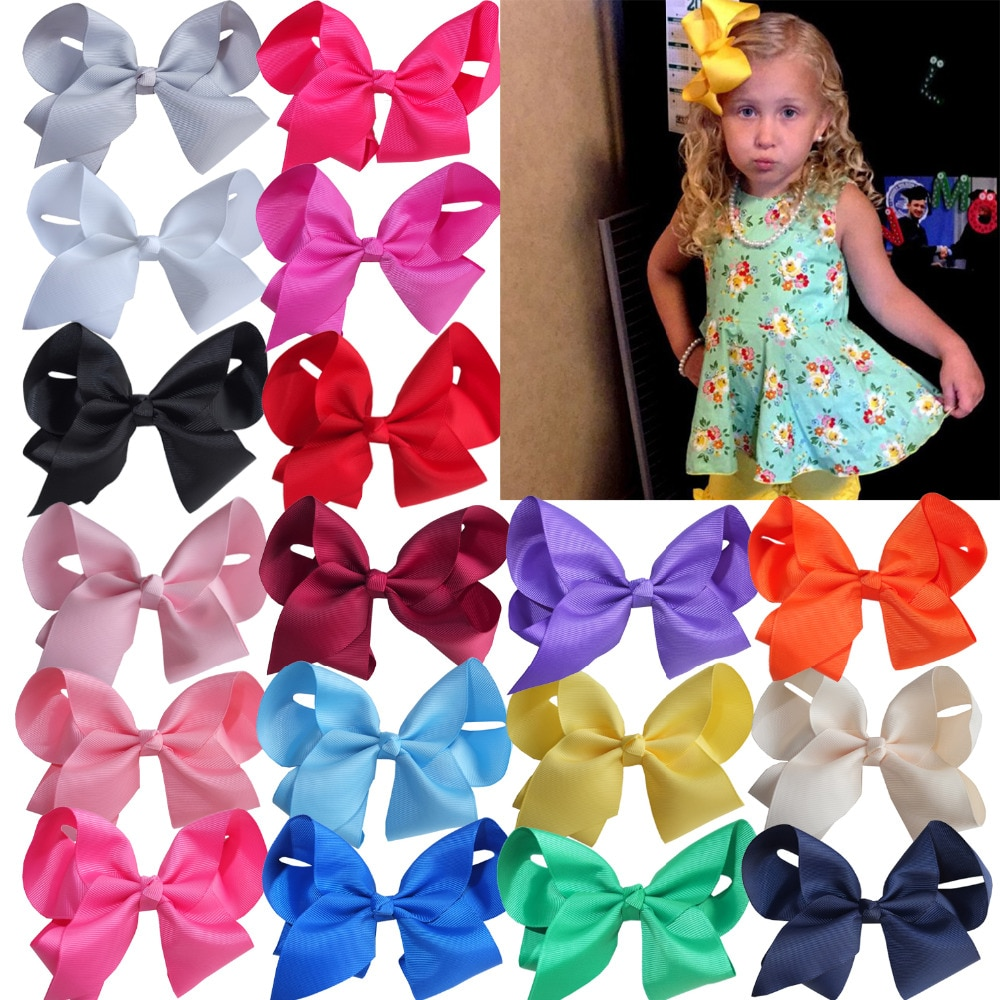 Wholesale 6 inch Large JOJO Hair Bow Kids Baby Girls Boutique Hairbows Hair Clips Barrettes Hairgrips HairpinHair Accessories