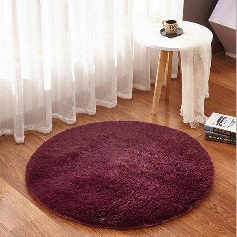سجادة دائرية من النسيج للديكور المنزلي ، حديثة ، لطاولة القهوة ، أريكة ، سلة معلقة ، كبيرة ، ممسحة ، غرفة نوم