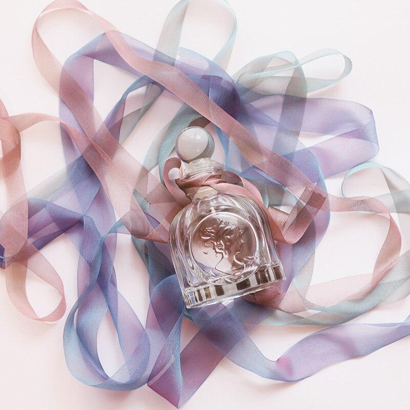 Mini botella de almacenamiento de vidrio de estilo nórdico, contenedor de vidrio con patrón en relieve para chica, organizador de almacenamiento hogareño para Perfume y aromaterapia