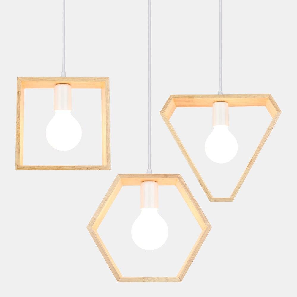 Lámpara De madera Eusolis Lustres De Sala Hanglampen luminaria Suspendu Led luz colgante lámpara nórdica luces colgantes Lustre Moderno