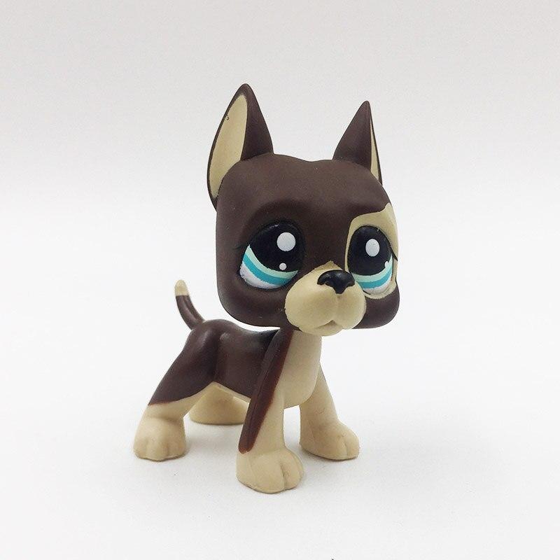 LPS gato viejo tienda de mascotas de juguete perro Gran Danés #817 BIS perrito niños colección de regalos figuras de animales