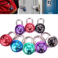 Portable Turntable Lock Gym School Health Club Combination Password Directional Padlock Locker Door Locks --M25