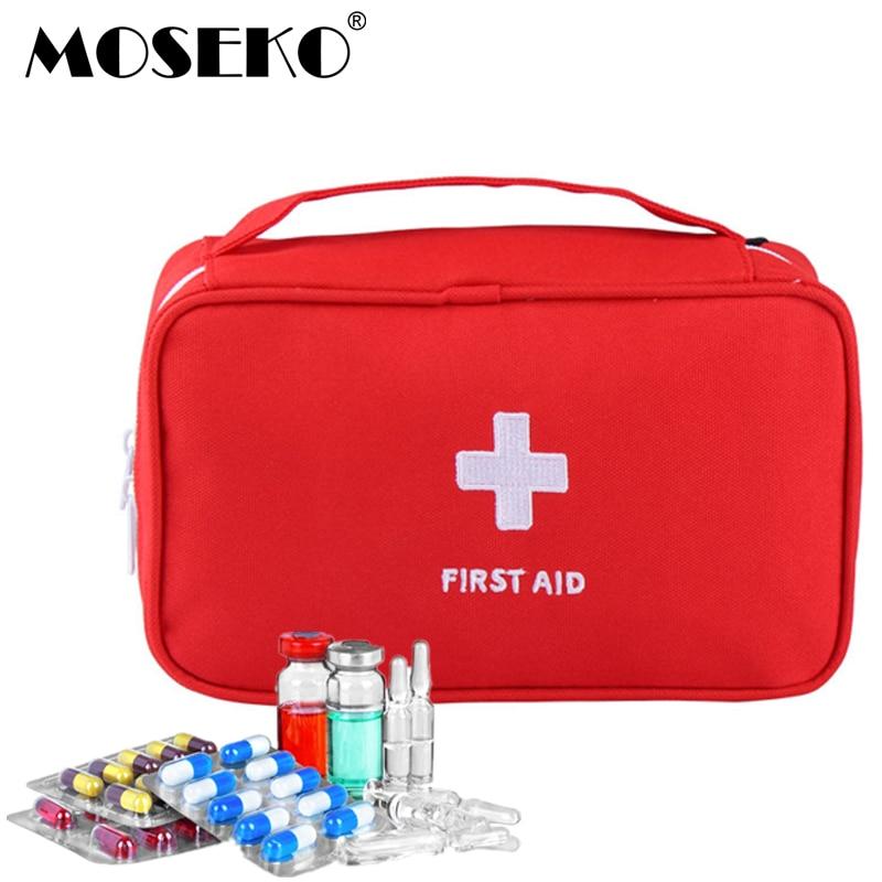 MOSEKO Outdoor First Aid Kit Bag Emergency Medical Kit Survival bags Wrap Gear Hunt Travel Storage Bag Organizers medicine Kit