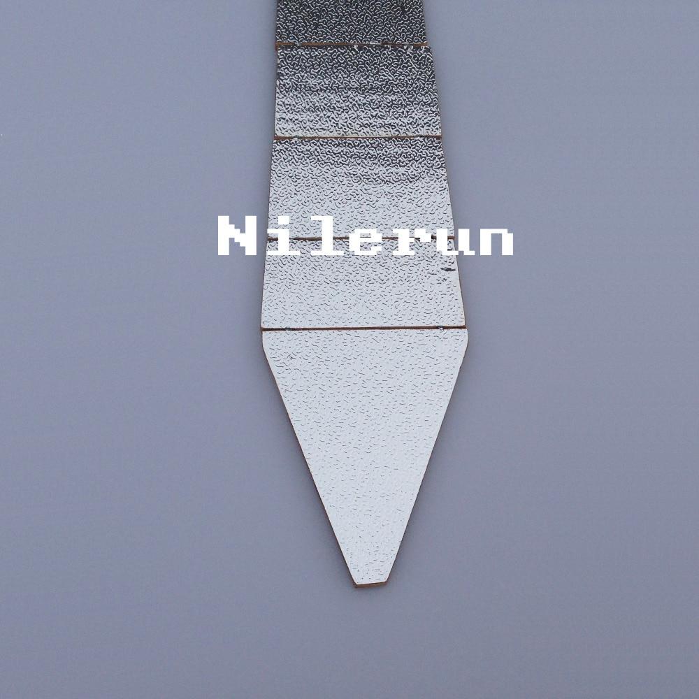 unisex women men's shiny silver bamboo wooden necktie