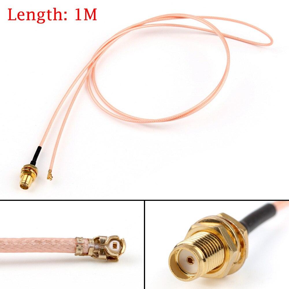 Areyourshop 1m 100cm rg178 cabo sma anteparo fêmea para ipx u. fl coaxial pigtail adaptador 3ft 50ohm chapeamento de ouro atacado