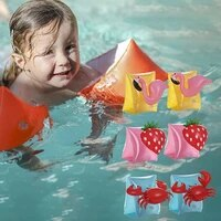cartoon unicorn swimming arm ring flamingo inflatable arm bands floatation sleeves water wings swimming arm float for children