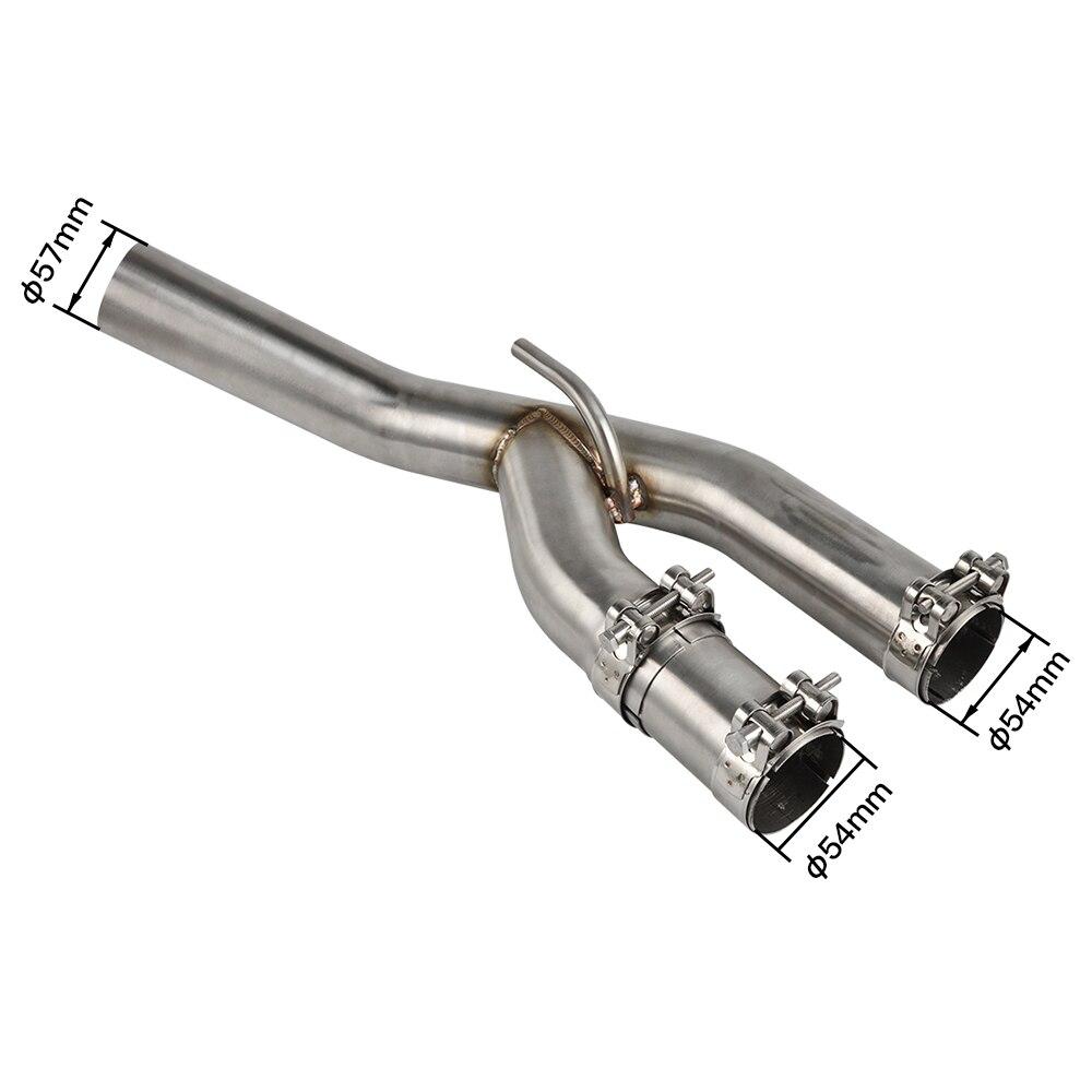 Tubo de conexión medio silenciador de acero inoxidable, tubo de escape Decat Downpipe para BMW S1000RR S 1000RR S 1000 RR 2015 2016, tubo central de motocicleta
