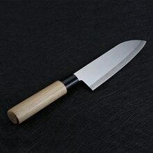 Couteaux à saumon professionnels   Couteau de Chef de 6.5 pouces en acier inoxydable, tranchage de fruits et légumes coupe de viande, Santoku outil de cuisine