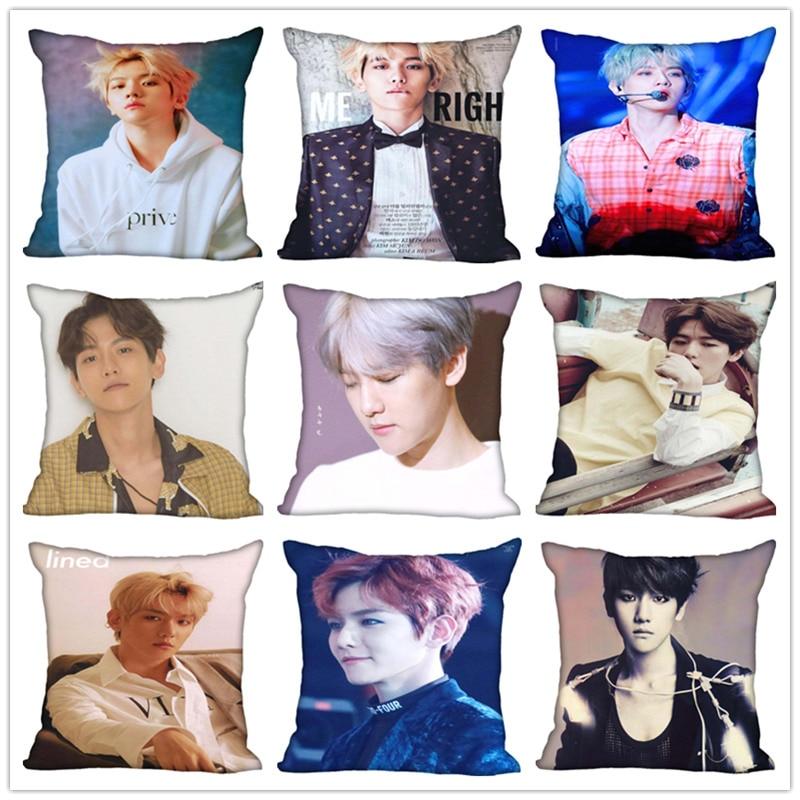 Funda de almohada personalizada KOPO BAEK HYUN, personalizada, con cremallera, cubre almohadas de casa, regalo DIY para ti