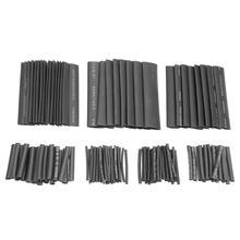 127 unids/lote tubo termoretráctil 40/80mm poliolefina 21 Kit de manguito de tubo de Cable conjunto de envoltura de alambre manguito de tubo de encogimiento conjunto de manguitos de Cable