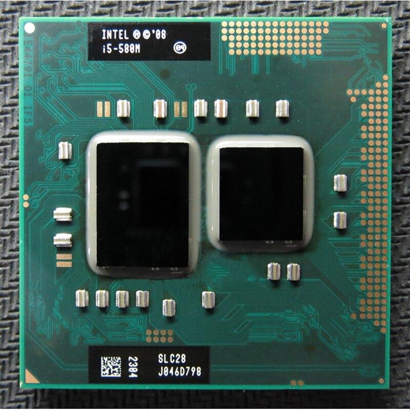 الأصلي إنتل I5 580m I5-580m ثنائي النواة 2.66GHz L3 3M PGA 988 وحدة المعالجة المركزية المعالج العمل مع HM55