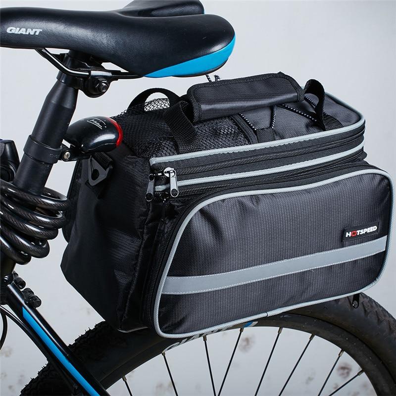 Waterproof  Mountain Road Bicycle Bike Bag Cycling Double Side Rear Rack Tail Seat Trunk Bag Pannier seat bag for bike