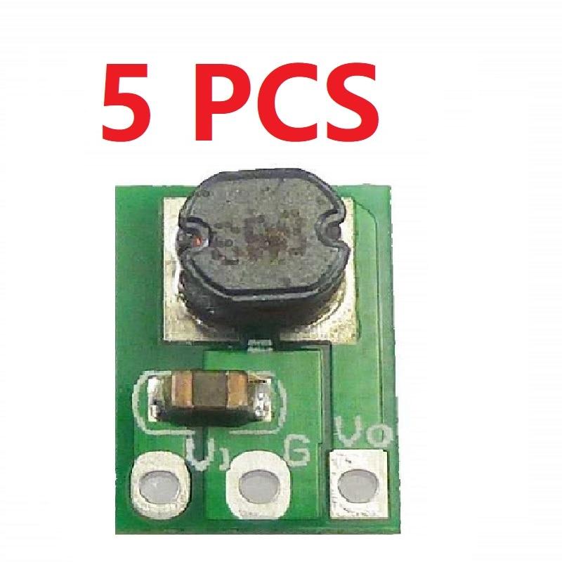 5 pces ultra pequeno mini dc 3.7 v 4.2 v 4.5 v 5 v 6 v a 3.3 v step down buck módulo regulador para 18650 esp8266 tábua de pão