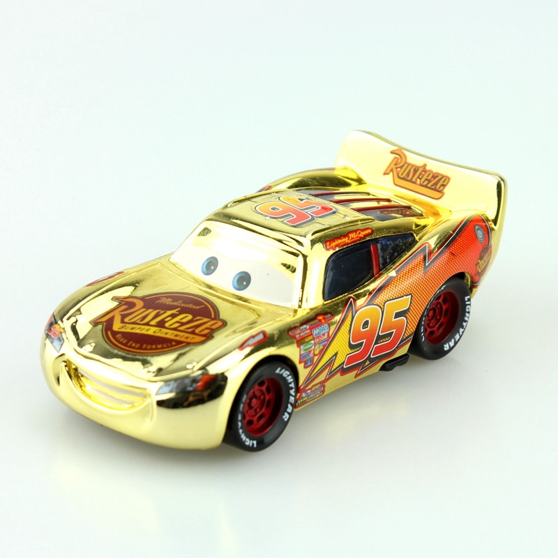 Disney Pixar voitures doré argent version foudre McQueen moulé sous pression en métal jouets voiture pour enfants cadeau 1:55 en vrac nouveau en Stock