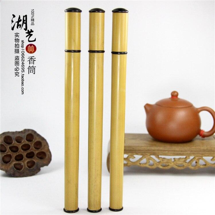 Viejo palo amarillo de bambú largo joss stick aloes lie xiang cono caja de incienso tubo al por mayor fabricante de electrodomésticos para profesores