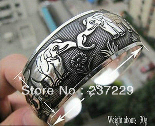 Precio de Venta al por mayor envío gratis 10 piezas ^ XSZ01422 nuevo Totem brazalete tibetano de plata Pulsera
