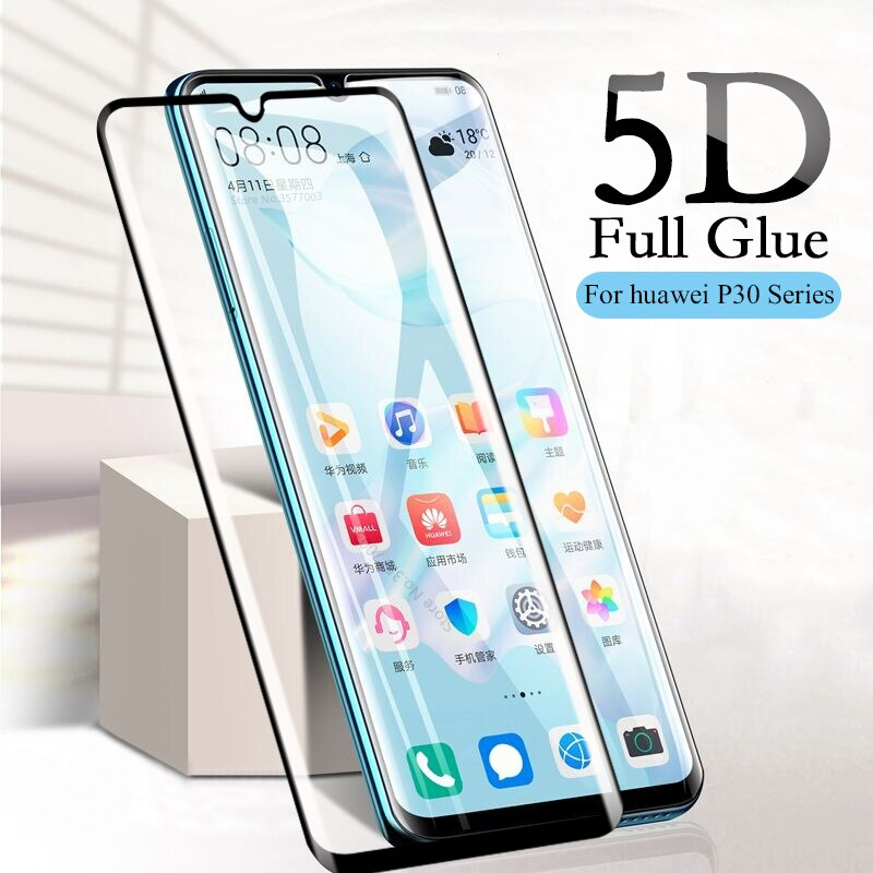 5D закаленное стекло с изогнутыми краями для Huawei P30 pro, Защитная пленка для экрана для Huawei P30 Lite Light P 30 P30pro