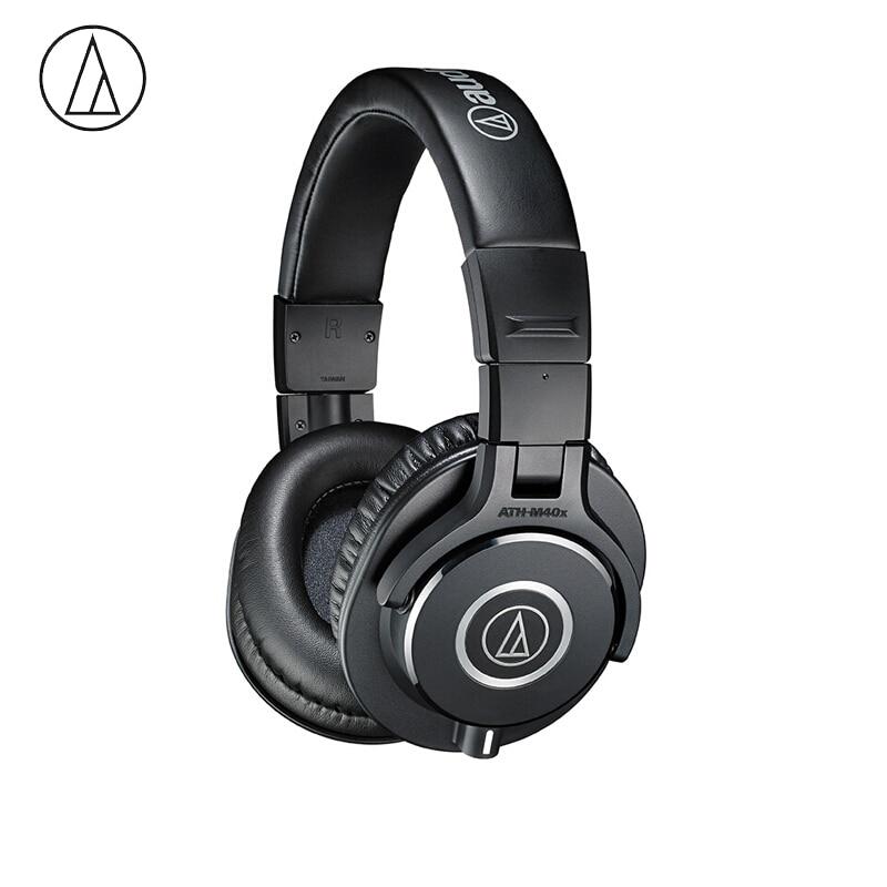 Original Audio Technica ATH-M40x Professional Monitor Headphones Over-ear Headsets HiFi Foldable Earphones w/ Detachable Cables