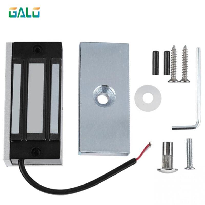 Cerradura magnética eléctrica electrónica de 12V 60kg a prueba cerradura electrica de fallos cerraduras DC EM con fuerza de retención electromagnética mini M60 para acceso a la puerta