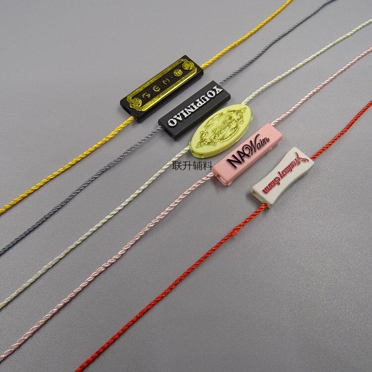 10000PCS Normal Seal Tag for Hang Tag Custom Made own design seal tag plastic tag garment hangtag string