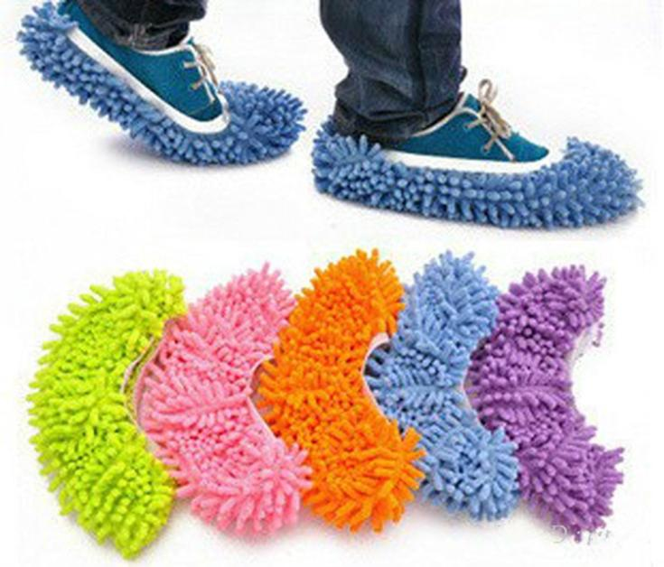 One Uds chenilla multifunción, cubre Zapatos, zapatillas de limpieza, mopa para pasar con zapatos para perezosos, gorras