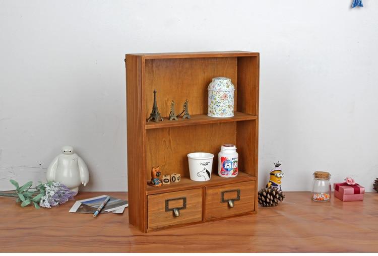 1 قطعة البقالة زكا خزانة تخزين خشبية صندوق الرجعية خشبية خزائن خزانة معلقة تأثيث المنزل مع 2 أدراج JL 0945