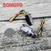 Tracker brouilleur MINI clignotant personnalisé pour moto vintage couvercle transparent petit type de clignotant universel pour moto