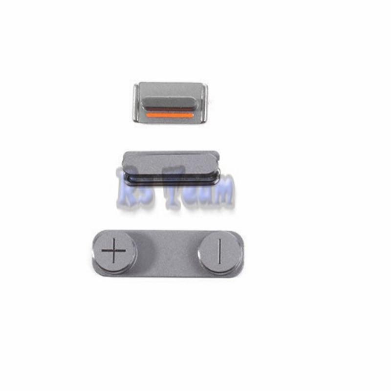 1 set/lote Hot Sale 3 em 1 Botão Lateral Para o iphone 5S SE Power On Off Lock + Interruptor de Volume + Mute Silencioso chave Set