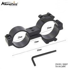 AloneFire 25X30 Tactical Scope Mount Universal Dovetail Rail Suporte Clipe Tubo Braçadeira Lanterna Rifle scope Mira Laser