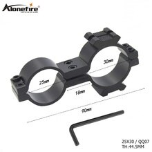 AloneFire 25X30 Tactische Scope Mount Universele Zwaluwstaart Rail Klem Pijp Zaklamp Rifle scope Laser Waarneming Clip Beugel