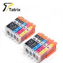 Tatrix 10 pièces PGI150 CLI151 Compatible Cartouche Dencre Pour Canon PIXMA IP7210 MG5410 MG5510 MG6410 MG6610 MG5610 MX921 MX721