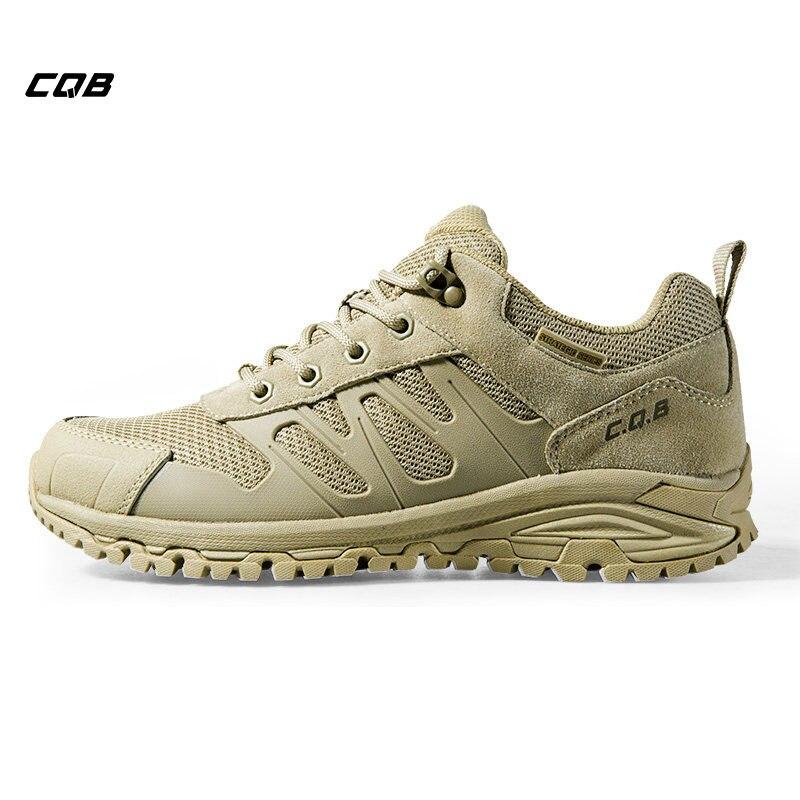 CQB deportes al aire libre tácticos Trekking hombres zapatillas ligera absorción de choque zapatos antideslizantes botas militares para Camping senderismo