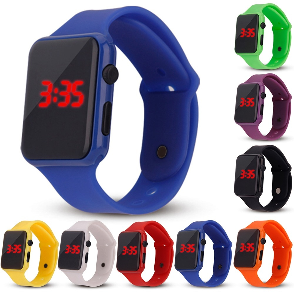 Children 2019 Fashion Watch Colorful LED Boy Girl Electronic Student Sport Watches Kids Clock Digita