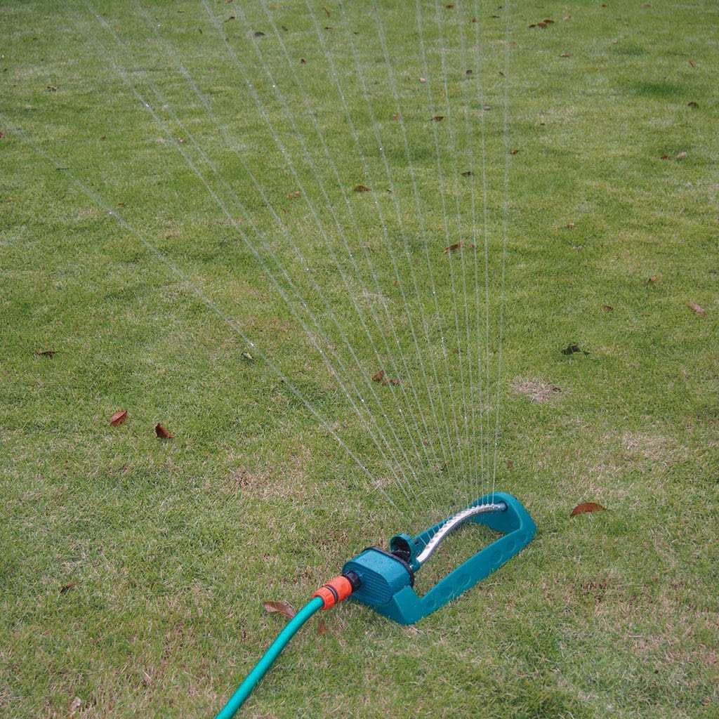 15 Hole Swing Plastic Aluminum Tube Garden Lawn Sprinkler 2 Sided Coverage Nozzle Rotating Water Sprinkler System Garden Supply