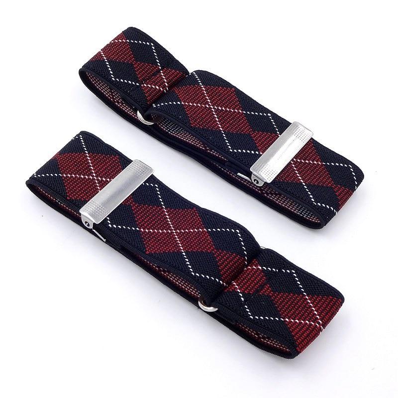 2 uds. Sujetadores de camisa supsusen para hombre con manga de 2,5/3,5 cm de ancho, tirantes de diseñador para hombres