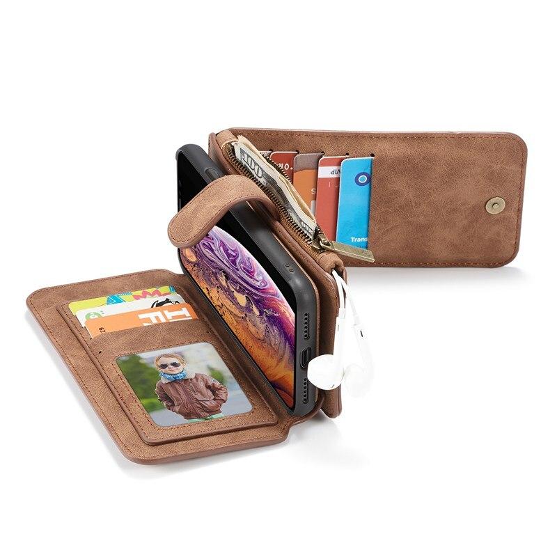 Telefon Flip fall Für Iphone 12 Mini 11 Pro X Xr Xs Max 5 s e 2020 6 s 7 8 Plus Coque Luxus Leder Schutzhüllen zubehör