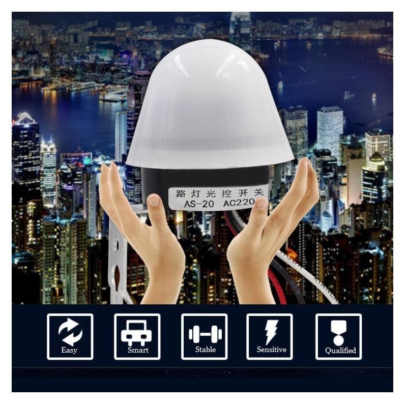 High Sensitivity Light Control Switch 180-240V Automatic Light Sensor Photo Control Switch For Outdoor Street Light Park Lamps