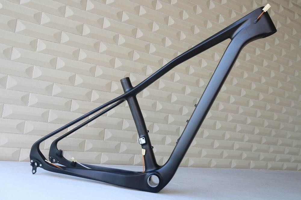 Fabricación oem Marco de carbono mtb 29er bicicleta de montaña Marco de cola dura de carbono nuevo EPS marco de tecnología en forma completa
