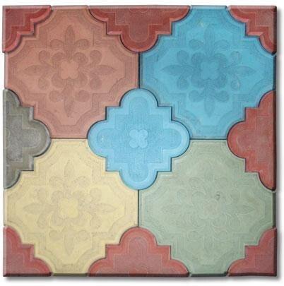 """Hard ABS Plastic molds for paving slabs concrete """"Krakow Clover""""  for paving Plaster Stone Tiles Paving Slabs"""