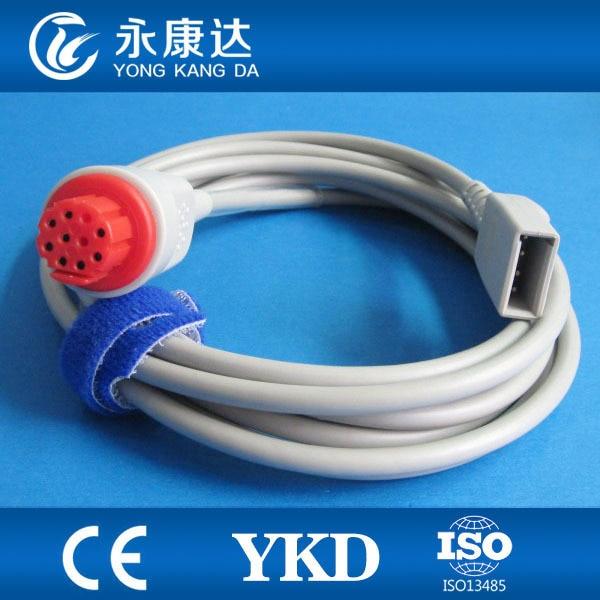 Free Shipping Datex Utah IBP Adapter Cable, Round 10J>Din 20. 4Pin