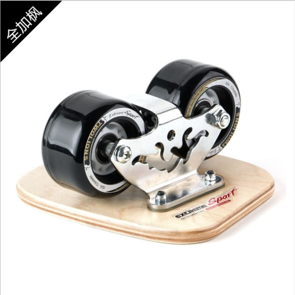 TWOLIONS Canadian Maple Freeline Skates Wooden Drift Skate Board Patines Scrub Deck FreeStyle Moire Wakeboard