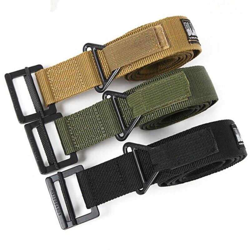 Cinturón táctico para hombre, cinturón militar de nailon con hebilla de Metal, cinturón de entrenamiento pesado ajustable, accesorios de caza
