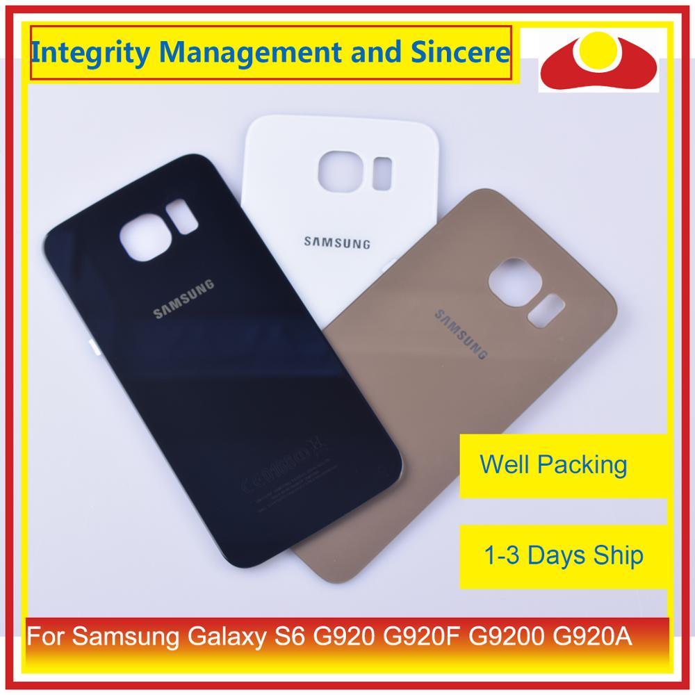 10 unids/lote para Samsung Galaxy S6 G920 G920F G9200 G920A, carcasa de batería para parabrisas trasero, carcasa, carcasa de chasis, carcasa de repuesto