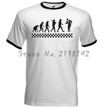 Evolución de Ska camiseta The Specials Madness 2 tonos Ska amortiguadores Suggs dos tonos camisetas para hombres camiseta manga raglán divertida regalo tops