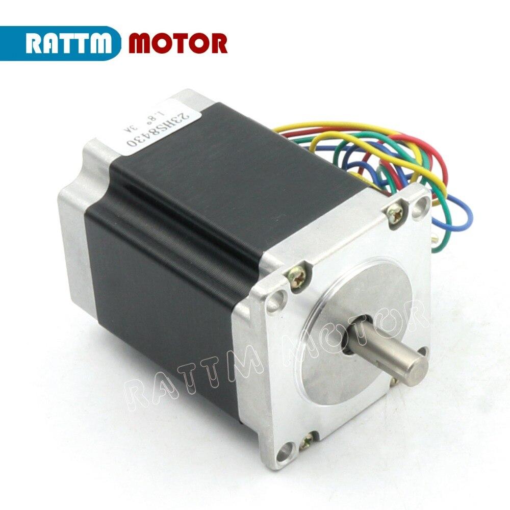 2 Phase NEMA23 CNC stepper motor 76mm 3A 270oz-in CNC stepper motor stepping motor 3D Printer Robot Foam Plastic Metal