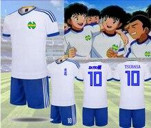 2019 cos Captain Tsubasa T-shirt + Shorts Abito in Jersey di Calcio Uniforme tessuto asciutto Rapido Del Capretto formato Adulto Cosplay costume