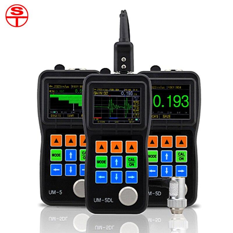 Portable Through Coating Ultrasonic Thickness Gauge A&B-Scan UM-5D