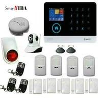 SmartYIBA     systeme dalarme de securite domestique sans fil  wi-fi  GSM  avec porte-cles RFID  camera video IP  sirene sans fil  application Android IOS  anti-fumee