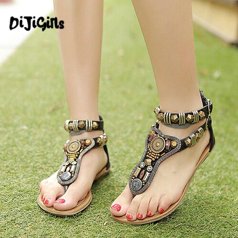 Wommen Roma Vintage modo femmes chaussures femmes sandales plat pantoufles Zip 35-40 transporte da gota