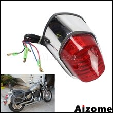 Motocicleta Universal luz trasera para Harley Yamaha Suzuki Honda Shadow Sabre 1100 VT1100C2 VT400 VT750 luz de freno